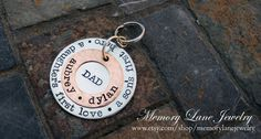 DADDY Personalized Key Chain by MemoryLaneJewelry on Etsy, $45.00
