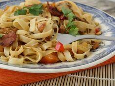 Receita Prato Principal : Fettucine com peru e chouriço de Pitadasecolheradas