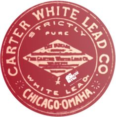 I modified an original black and white logo for the Carter White Lead Company, which had factories in Omaha, Chicago and later Montreal.