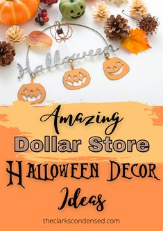 Have a frugal Halloween without spending a fortune with these Dollar Tree Halloween decor ideas and DIY projects. Dollar store craft ideas for Halloween. Make Halloween decorations for your front porch with cheap items from the dollar store. You can make everything from scary indoor decor to outdoor decorations for your Halloween party. Check out how you can turn cheap Halloween Dollar store supplies into awesome Halloween decorating ideas! #DIYHalloweenDecor #HalloweenDecorations #DIY