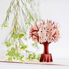 Make sure to share your love of spring with this beautiful blossom tree pop-up card. Leave them speechless as it springs to life. #cards2life #popupcards