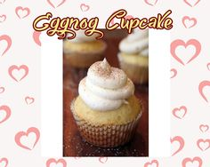 Uptown Eggnog www.theteelieblog.com  Eggnog cupcakes are easy to make, fluffy and very yummy. Fill them with Bavarian Cream! #TeelieBlog