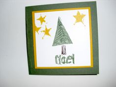 Christmas stamp set carved by Sue Scheets