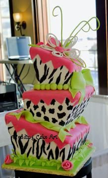 Animal Prints Wedding Cake by sharoncakes, via Flickr