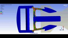ANSYS Workbench Static Structural FEA of a plastic buckle clip
