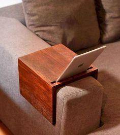 Couch arm table custom sofa arm tray handmade wooden couch handmade home de Diy Sofa, Diy Furniture Couch, Pallet Furniture, Living Room Furniture, Furniture Design, Rustic Furniture, Modern Furniture, Furniture Ideas, Furniture Movers