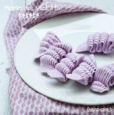 Recette de meringue parme à la poudre d'hibiscus