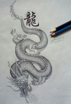 Chinese dragon drawing by me :)                                                                                                                                                      More