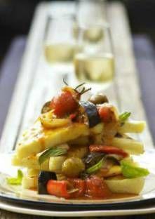 Recette de Polenta con la caponata (polenta à la caponata, Italie)