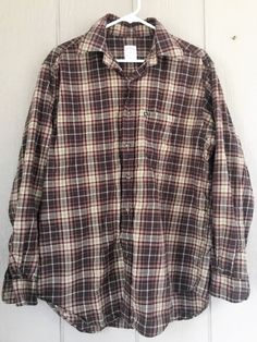 Mens Brooks Brothers 346 Button Down Flannel Shirt Original Polo Cotton Size M #BrooksBrothers #ButtonFront