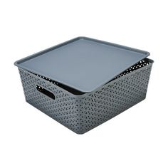 Storage Container with Lid - Large, Grey