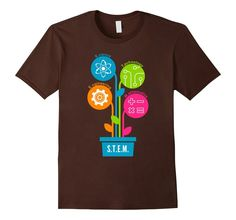 Men's STEM T-Shirt - Science Technology Engineering Mathematics 2XL Brown