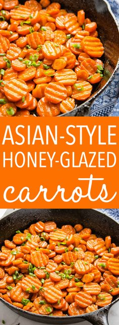 These Asian-Style Honey Glazed Carrots are the perfect sweet and savoury side dish pan fried to perfection with a sticky honey soy glaze, garlic and ginger. Recipe from thebusybaker.ca! #carrots #vegetarian #honeyglazed #panfried #sidedish #holidays #christmas #thanksgiving #vegan #vegetables via @busybakerblog