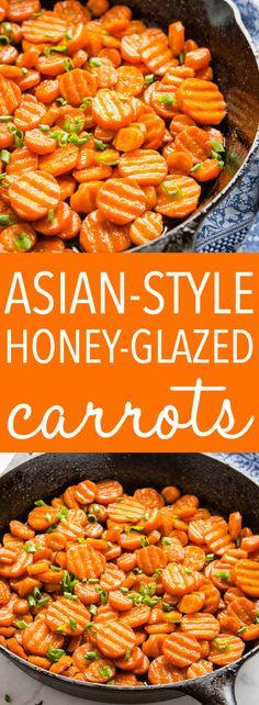 Asian-Style Honey Glazed Carrots