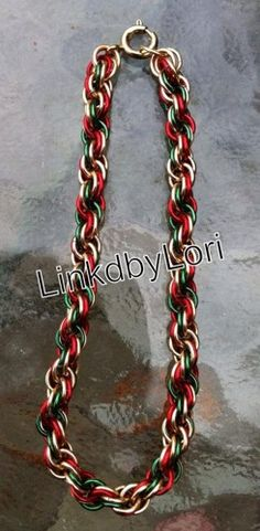 Joy To The World Double Spiral Chainmail Bracelet | Linkdbylori - Jewelry on ArtFire