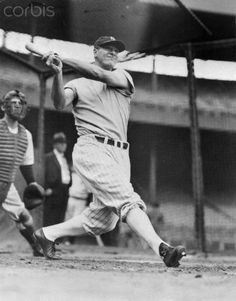 Lou Gehrig in Batting Action