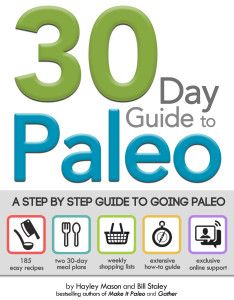 30 Day Guide to Paleo on www.PopularPaleo.com | Make getting started with Paleo easy! Meal plans, grocery lists and all the details you need to make the leap!