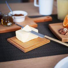 東屋のバターケースは木製でおしゃれ