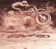 Spain 1968 - Bultaco vintage motorcycles - dusty retro