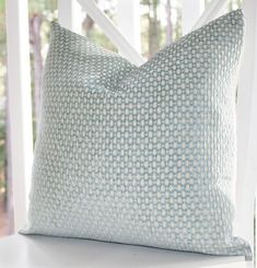 Decorative Pillow Green Blue Cover  Sea Foam Water by MotifPillows, $46.00