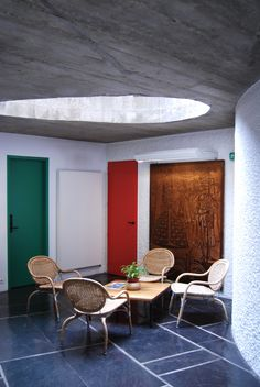 Le Corbusier | Charles-Édouard Jeanneret-Gris (1887-1965) | Maison du Bresil |  Paris | 1952-1959. The concrete throughout is treated with 'betón brut', a style Corbusier used often, for which the formwork of the concrete remains ingrained on the surface. This process makes apparent the building's construction and craft by revealing the raw materials and formative processes that constitute the building.