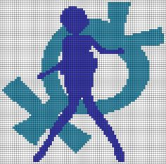 Sailor Mercury perler bead pattern