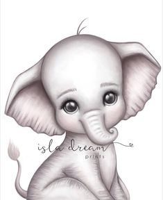 Here's a little friend you're sure to adore, A sweet baby elephant by the name of Theodore. He parades through the jungle with his mum right by his side, Swinging his cute little wrinkled trunk and tr Elephant Art, Cute Elephant, Indian Elephant, Cute Animal Drawings, Cute Drawings, Unicorn Art, Jungle Theme, Nursery Prints, Cute Pictures