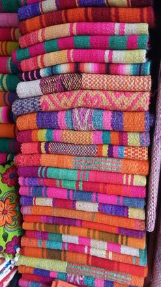 Frazada Runners / Rugs / Colorful Blankets - You Choose! Runner Rugs, Carpet Runner, Bohemian Fabric, Boho Rugs, Office Decor, Textiles, Carpet Stairs, Hall Carpet, Hand Weaving