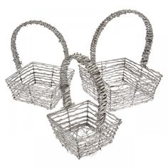 Winterfrost Christmas Baskets Silver