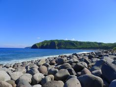 Valugan boulder beach. These are stones spewed by Mt. Iraya in 400 AD. Batan Island, Batanes.