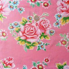 Tissu Petit pan Pivoine rose