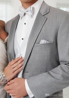 2016 Summer Wedding Custom Made Light Gray Narrow Notch Lapel Signal Breasted Wedding Tuxedos For Men Groom Wear Suits Plus Size Mens Dress Suits Mens Formal Trousers From Brucesuit, $155.01| Dhgate.Com