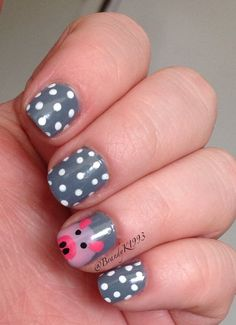 Pig Nails Pig Nails, Manicures, How To Do Nails, Cute Hairstyles, Pigs, Cute Nails, You Nailed It, Nail Ideas, Kendall