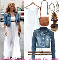 white and denim. classic. <3 xoxo