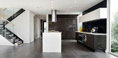 Benham 30 by Rawson Homes at HomeWorld Kellyville Open Living Area, Open Plan Living, Rawson Homes, Mcdonald Jones Homes, 4 Bedroom House Plans, Big Bedrooms, Modern Kitchen Design, Kitchen Designs, Kitchen Ideas