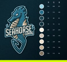 SeaHorse Gaming Mascot Logo. on Behance