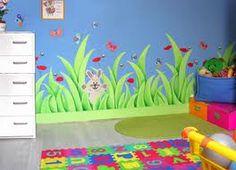 """Résultat de recherche d'images pour """"peinture murale chambre enfant"""""""