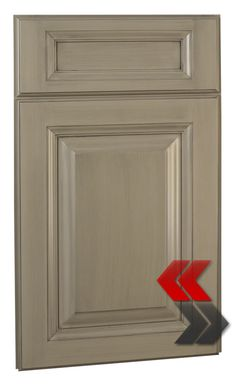 glazed grey cupboards | Youngstown Maple Taupe Brushed Gray Glaze