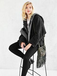 Reversible Faux Fur Hooded Coat - MYNYstyle - 6