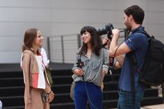 Gettin interviewed outside of Lincoln Center #nyfw