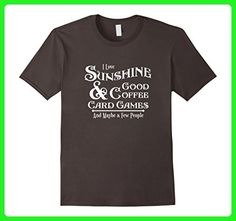 Mens Card Games, Coffee, Novelty Funny TShirt, T Shirt, T-Shirt 3XL Asphalt - Food and drink shirts (*Amazon Partner-Link)