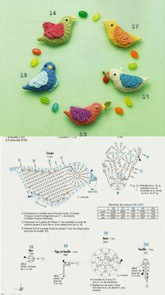Kawaii Crochet, Cute Crochet, Crochet Crafts, Crochet Dolls, Crochet Projects, Granny Square Crochet Pattern, Crochet Diagram, Crochet Motif, Crochet Designs