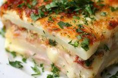 Aprenda a fazer lasanha de batatas: | Não tem massa? Faça lasanha de batata!
