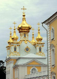 Chapel next to the Peterhof Palace - St. Petersburg, Russia