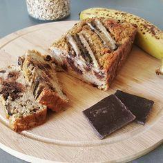 Cake à la banane, aux flocons d'avoine & pépites de chocolat