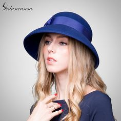 100% Australian Wool Fedora Hat bowknot Noble Bowler Hats For Women Wide Brim Formal Church Cloche Hat Like and Share if you want this #shop #beauty #Woman's fashion #Products #Hat
