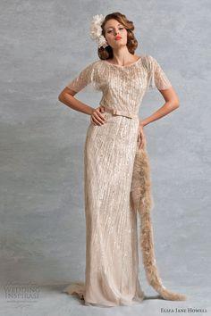 eliza jane howell diana wedding dress vintage color
