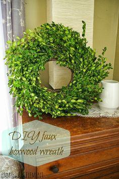 diy boxwood wreath - Google Search