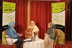 Humera Khan, Shaykha Halima Krausen & Dr. Laura McDonald at Summit