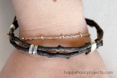 DIY Twig Bangle Brac